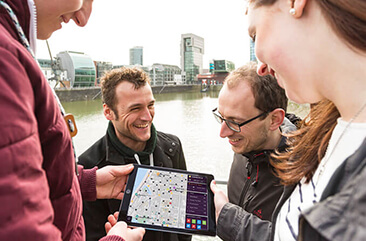 Team bei Teamevent iPad Rallye von Stadthelden