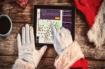 iPad bei der Xmas-Rallye von den Stadthelden
