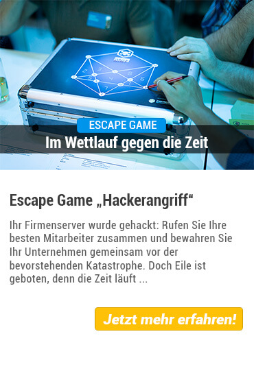 Teamevent Escape Game Hackerangriff von Stadthelden