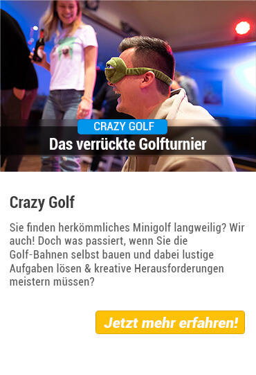 Teamevent Crazy Golf von Stadthelden
