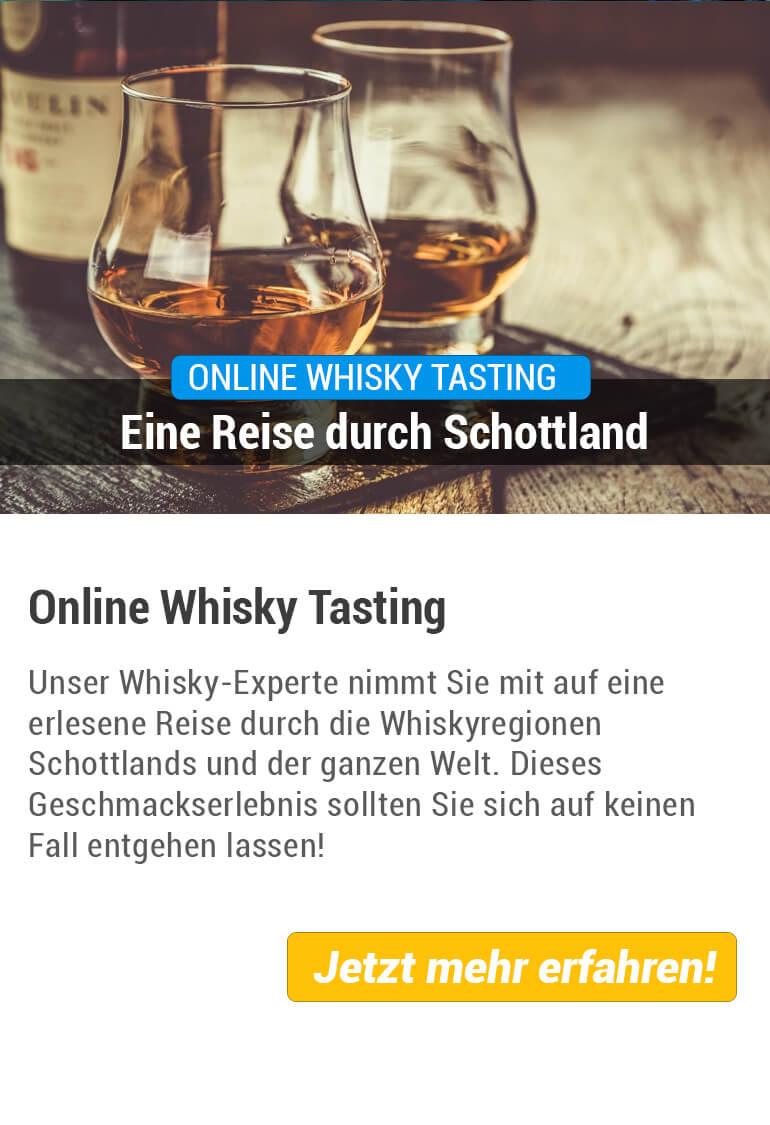 Übersicht vom Online Whisky Tasting