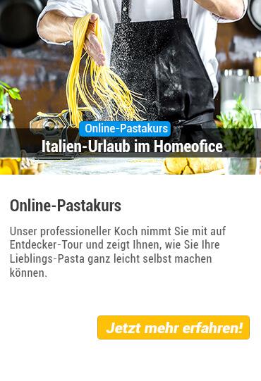 Eventübersicht Online Pasta Kochkurs